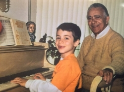 7-year-old me and my teacher Sal