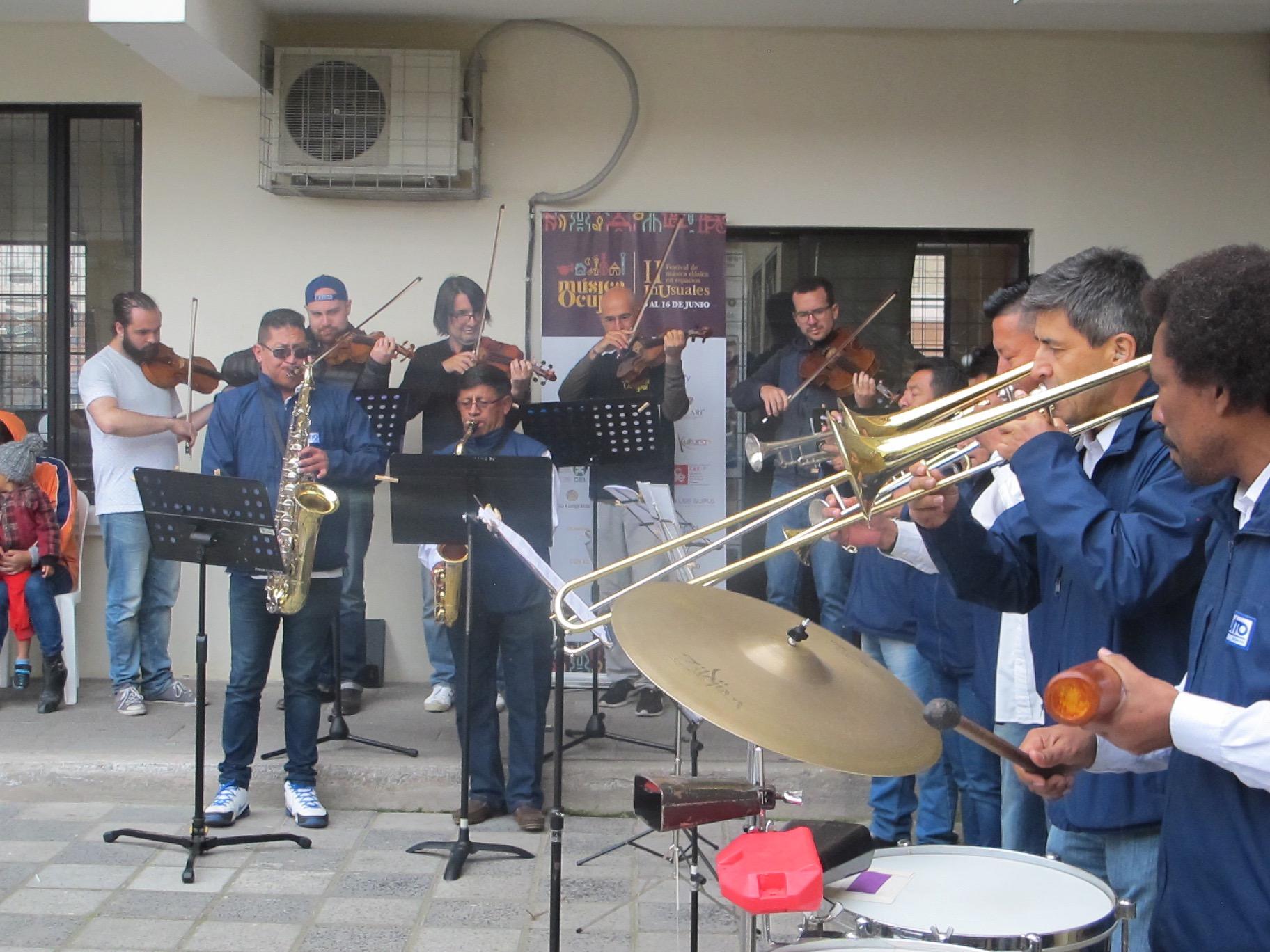 Concierto Casa Comunal Calacalí - Junto a Casa de las Bandas. Calacalí, Ecuador. Junio 2018.