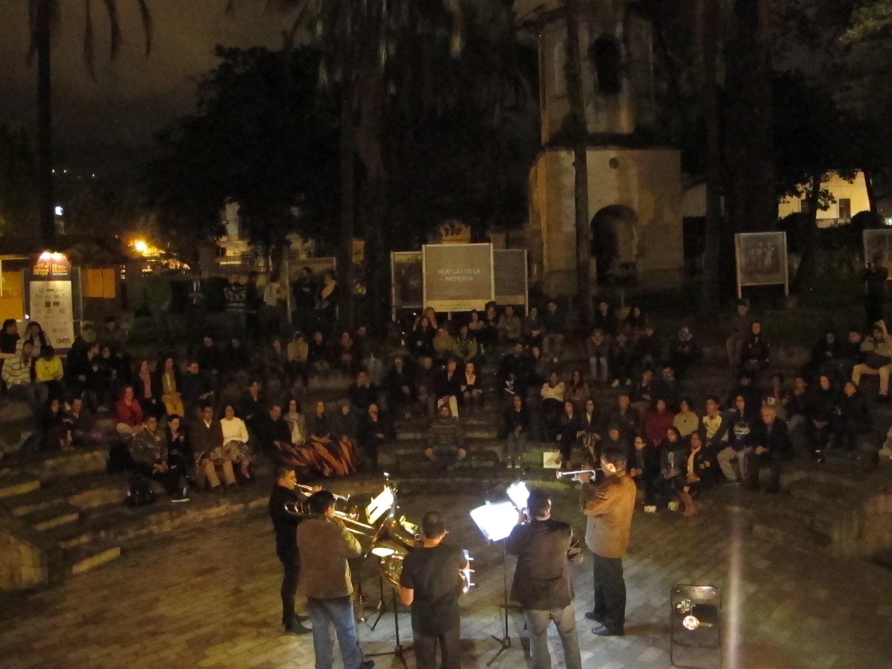 Concierto en el patio de La Circasiana. Norte de Quito. Junio 2018