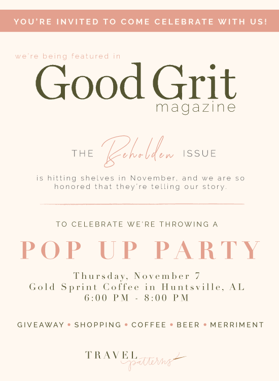Travel Patterns featured in Good Grit Magazine