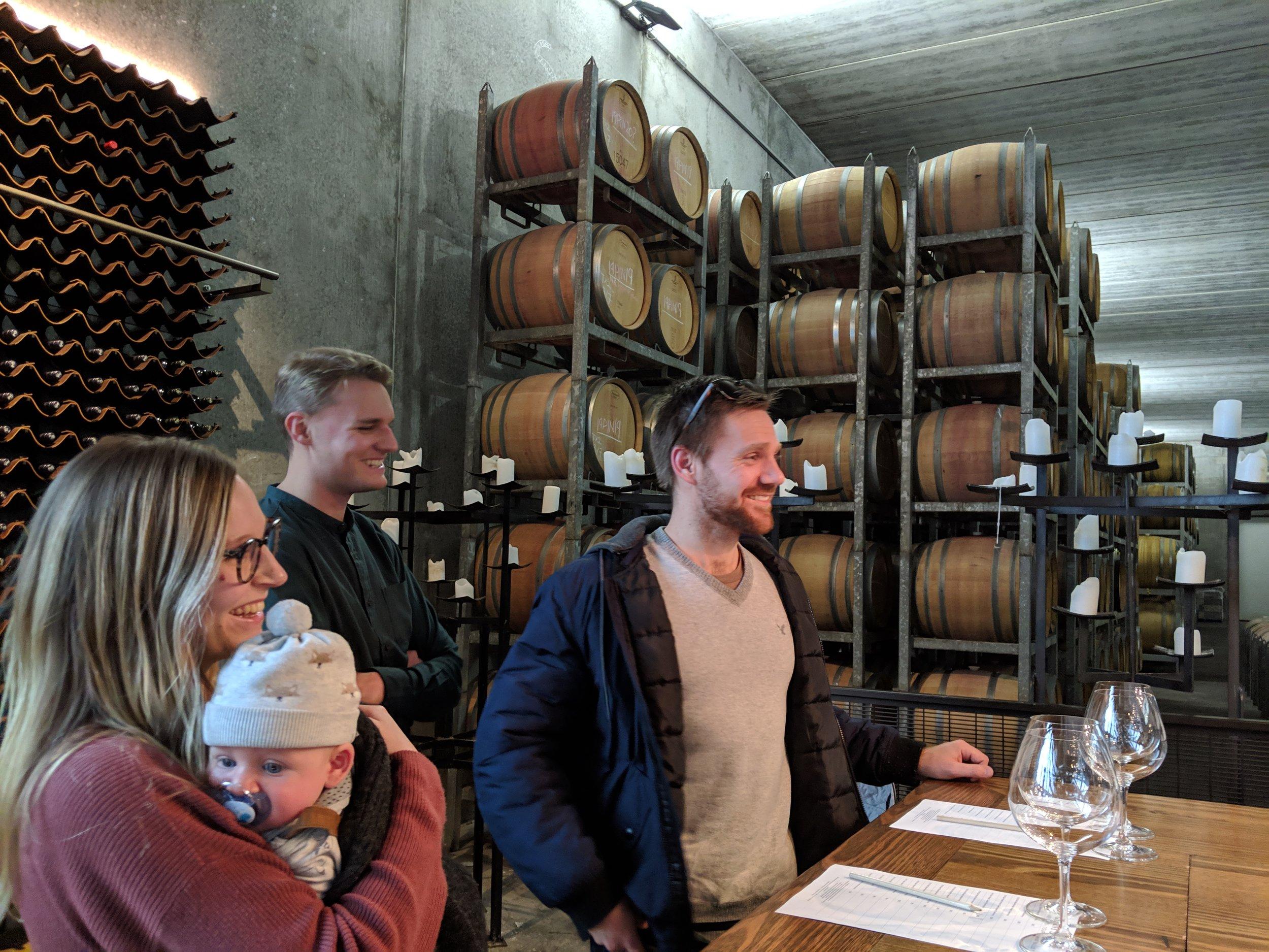 Wine tasting in the Yarra Valley