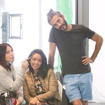 On set with this lovely crew!! #filmpudding #shooting #fun #makeup #hair #dubai #Uae