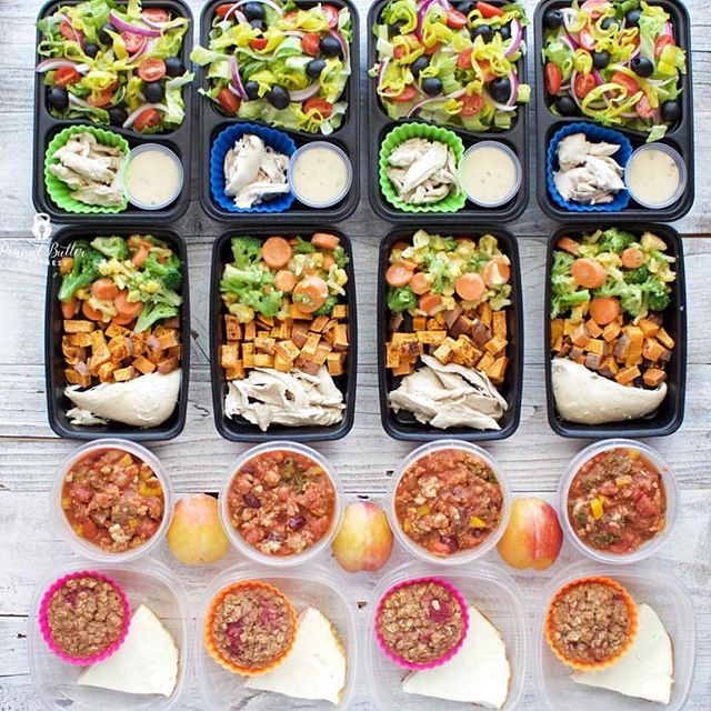 🔹FOOD PREP 🔹 ⠀⠀⠀⠀⠀⠀⠀⠀⠀ Hey guys, few quick things on food prep! ⠀⠀⠀⠀⠀⠀⠀⠀⠀ 🤷♀️Why❓❔❓ ⠀⠀⠀⠀⠀⠀⠀⠀⠀ Because when we are hungry/in a rush/stressed/distracted, we are more likely to grab something less nutritious to eat. ⠀⠀⠀⠀⠀⠀⠀⠀⠀ Having a healthy ready to go option on hand makes life SO much simpler and is one less thing to think about in our already hungry/busy/stressed/distracted state ✅👍🏻 ⠀⠀⠀⠀⠀⠀⠀⠀⠀ 🤷♀️How❓❔❓ ⠀⠀⠀⠀⠀⠀⠀⠀⠀ I see too many clients who make this a Sunday (usually evening) activity. 👏🏼 ⠀⠀⠀⠀⠀⠀⠀⠀⠀ That eventually they start to dread. ☹️😩 ⠀⠀⠀⠀⠀⠀⠀⠀⠀ And, heaven forbid they were away for the weekend/got home late/LIFE and FUN THINGS happened- wowser, well that's an excuse to de-rail the entire week right? (Hey you OCD types, I see you out there 😜). ⠀⠀⠀⠀⠀⠀⠀⠀⠀ It doesn't need to be a lengthy Sunday night process that you resent all week building up to it. ⠀⠀⠀⠀⠀⠀⠀⠀⠀ How about cooking an extra serving or two when you cook dinner one night, then you've got lunch the next day, and potentially dinner the next night- WIN! Same amount of effort as making dinner anyway 🙂🍛🍽 ⠀⠀⠀⠀⠀⠀⠀⠀⠀ ✅ If you have some spare time on a Friday after work one week, how about make some extra meals and freeze them for when you're in a rush? ⠀⠀⠀⠀⠀⠀⠀⠀⠀ ✅ If you have a lazy Saturday or Sunday morning at home, why not quickly roast some veges for the week? ⠀⠀⠀⠀⠀⠀⠀⠀⠀ ✅ There are many ways to make food prep easy and not a huge time consuming beast that you have to put aside hours and hours to make happen. ⠀⠀⠀⠀⠀⠀⠀⠀⠀ Personally I always have a #foodprepfriday as it sets me up for the weekend and start of the week. ⠀⠀⠀⠀⠀⠀⠀⠀⠀ Would love to hear your fav food prep tips and tricks below ⬇️ ⠀⠀⠀⠀⠀⠀⠀⠀⠀ 📸photo cred: @peanutbutterandfitness
