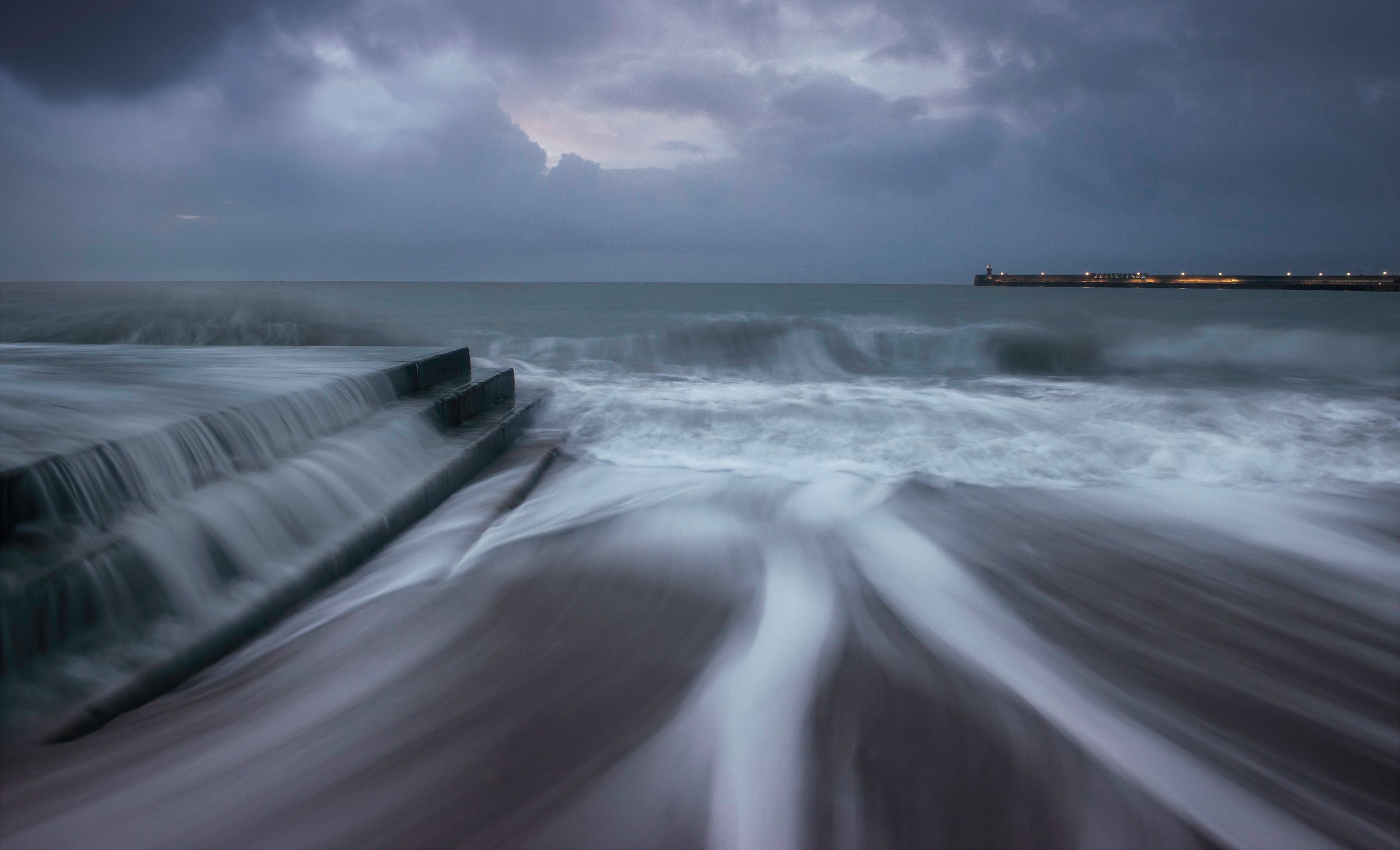 Folkestone at dawn.