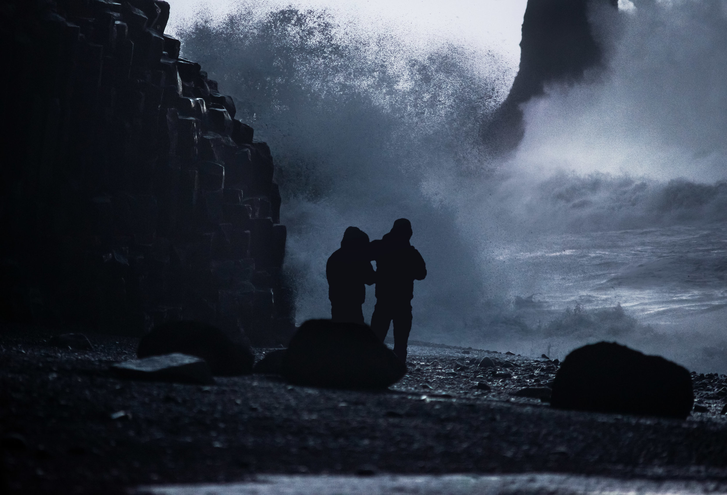 Morons, at Reynisfjara.