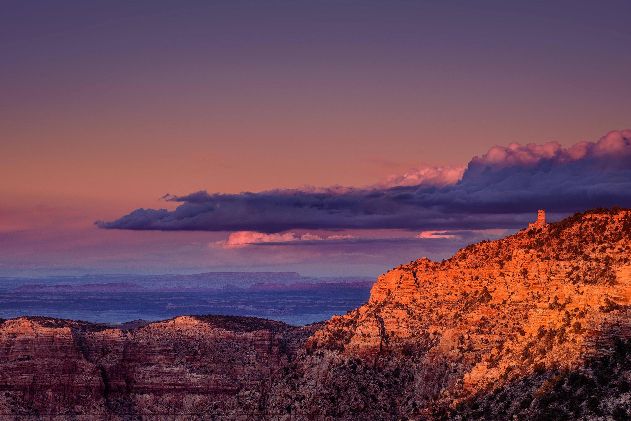 The watchtower at Grand Canyon National Park