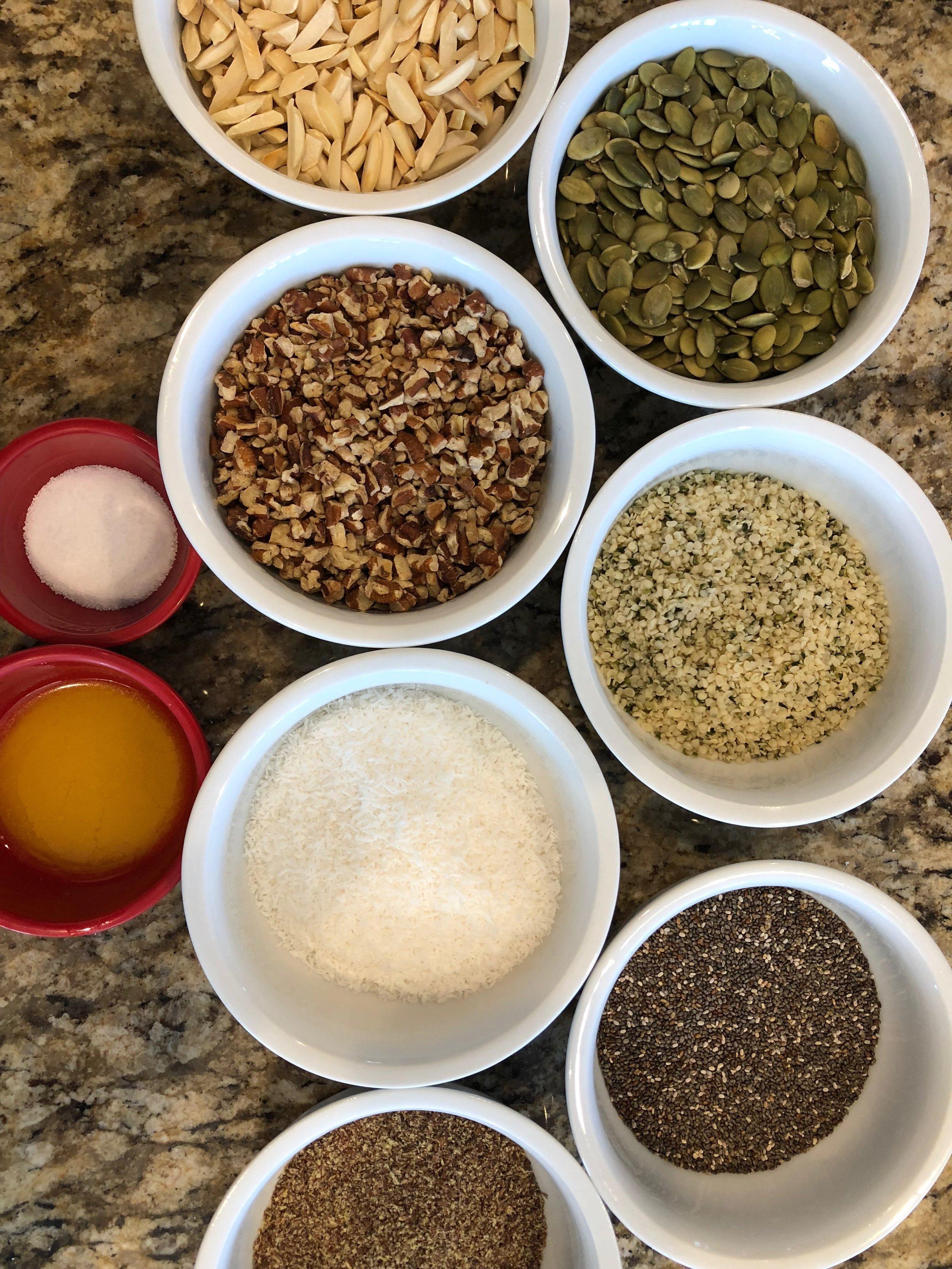 Keto Granola Ingredients