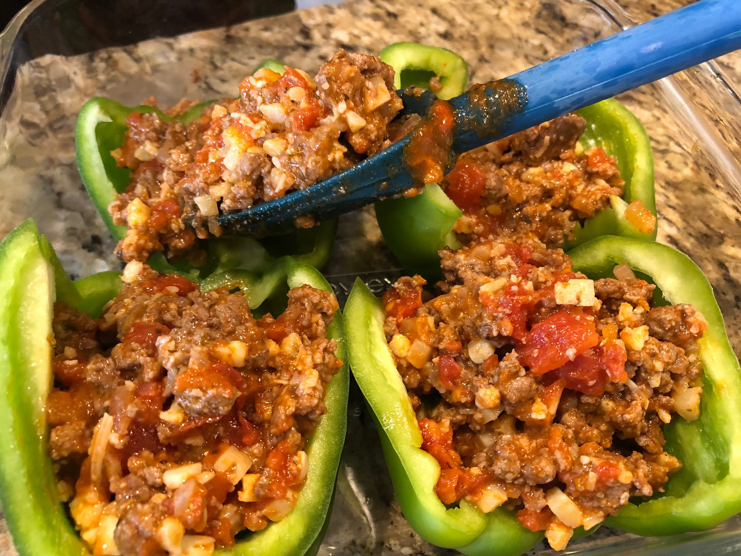 Ketogenic stuffed peppers for Keto diet weightloss