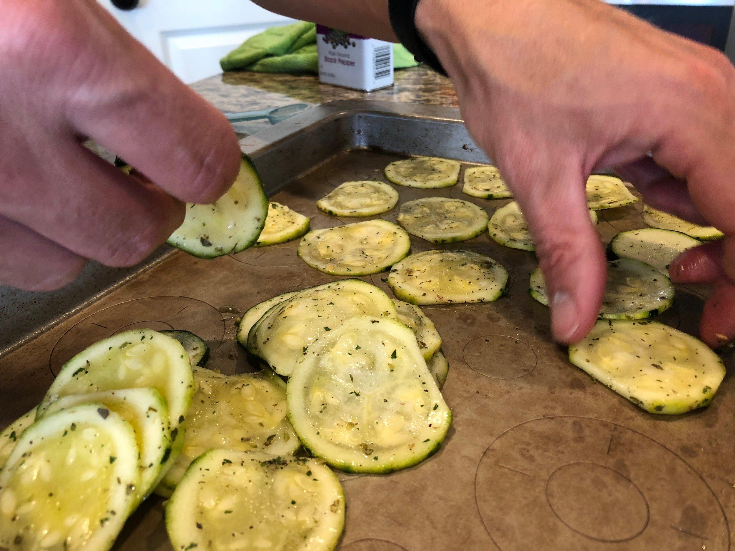 Keto Zucchini chips ketogenic diet