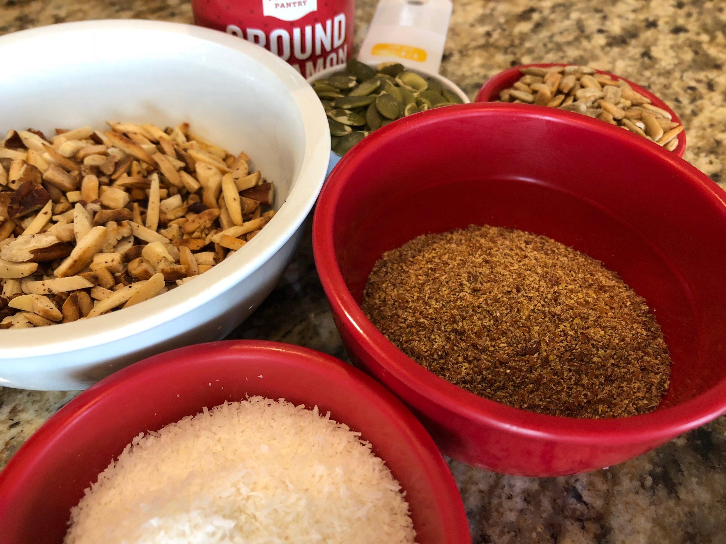 Keto Granola Bar Low carb snack recipe