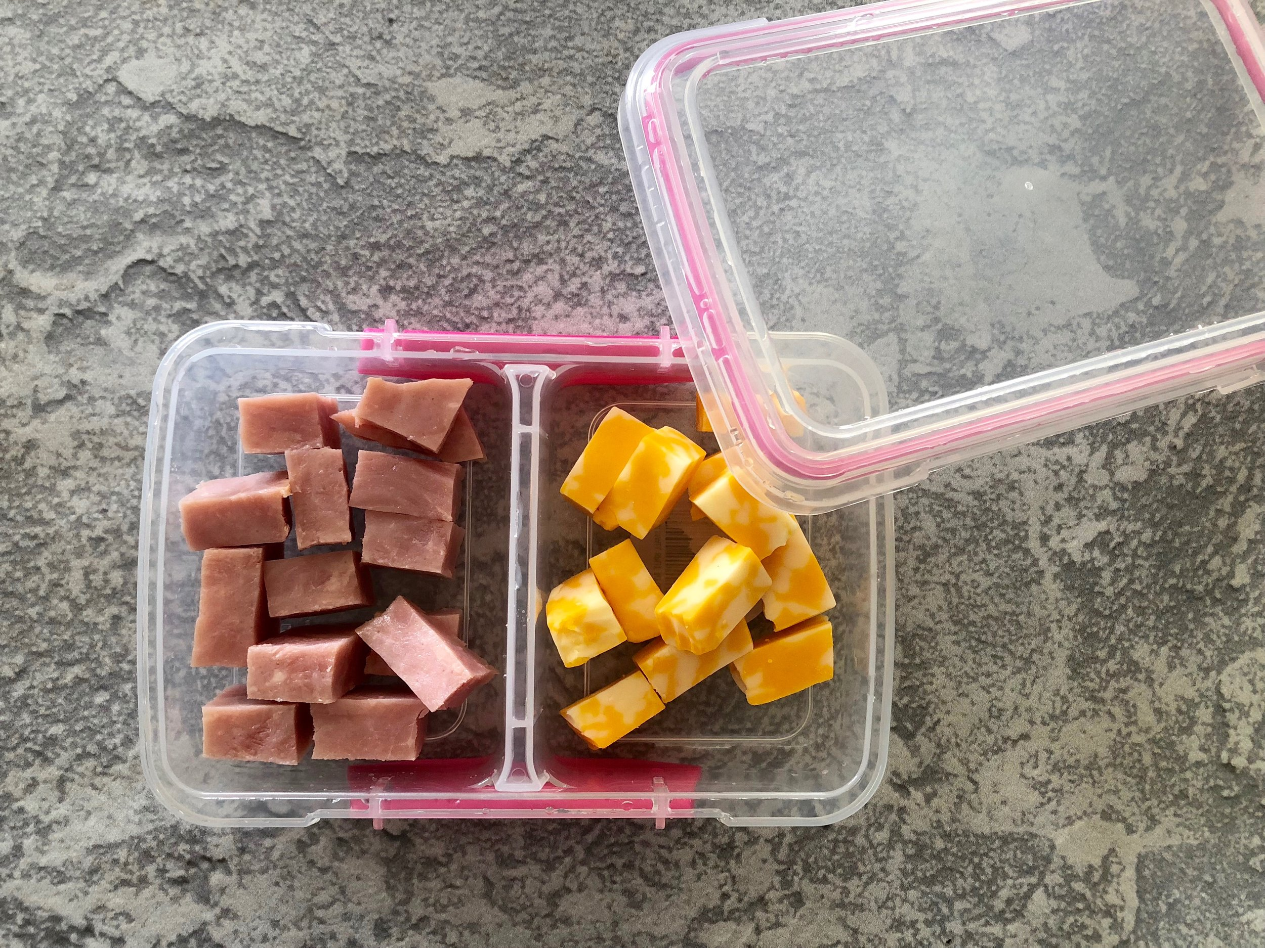 School lunch ham with Cheese keto and low carb