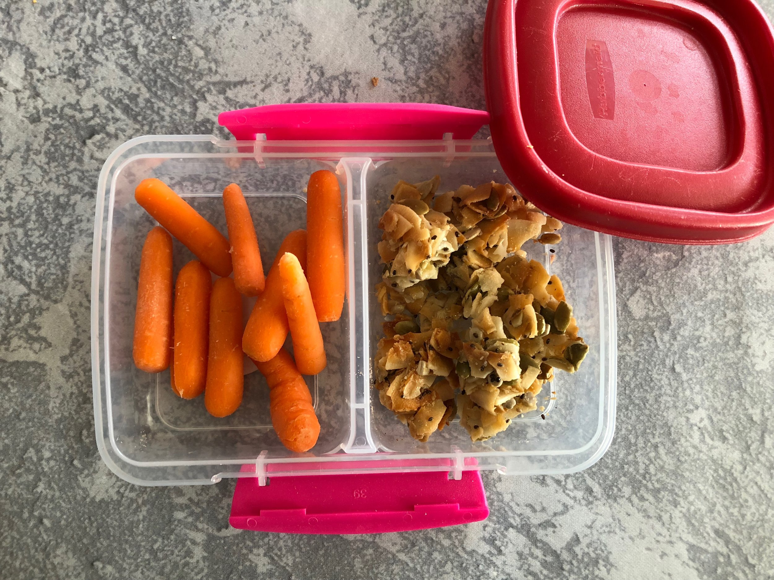 Snacks carrots coconut clusters keto and low carb lunch