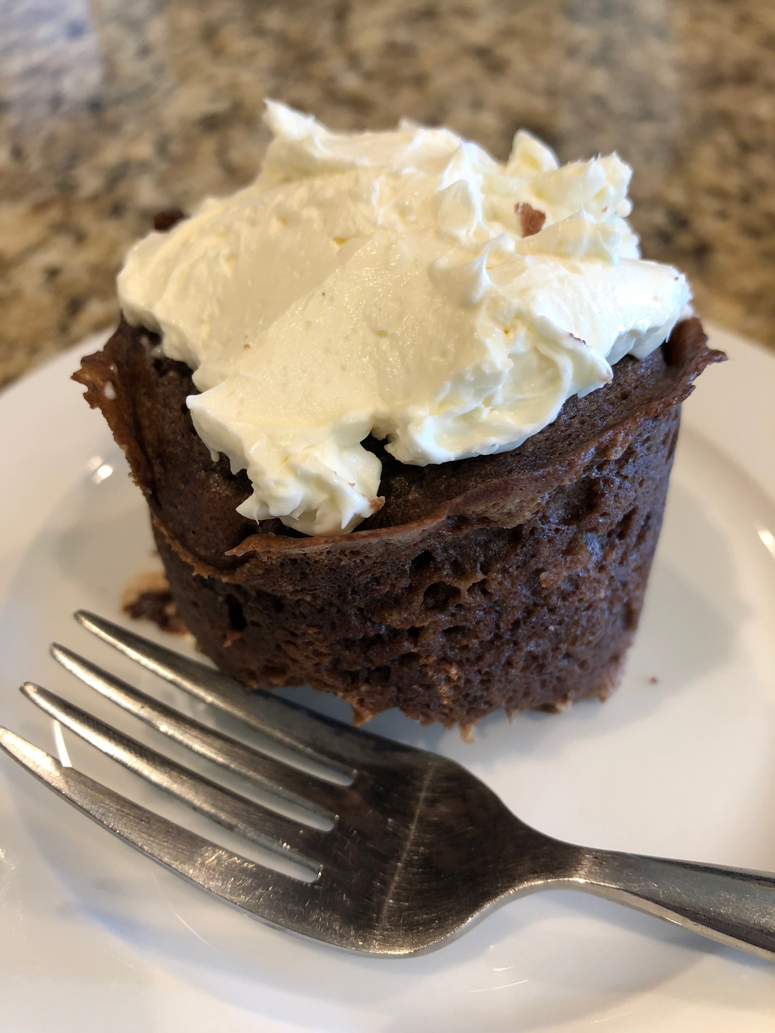 Keto 90 second double chocolate cupcake dessert recipe