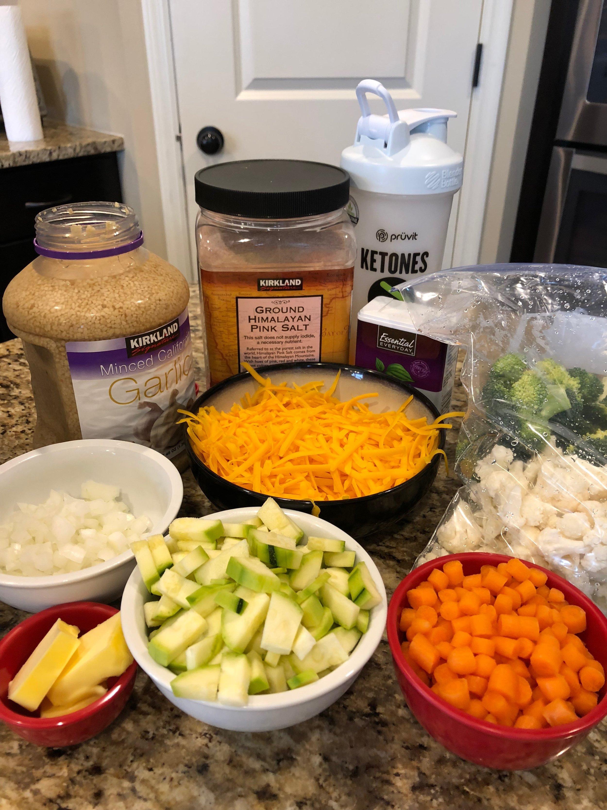 Keto instant pot broccoli and cauliflower soup recipe