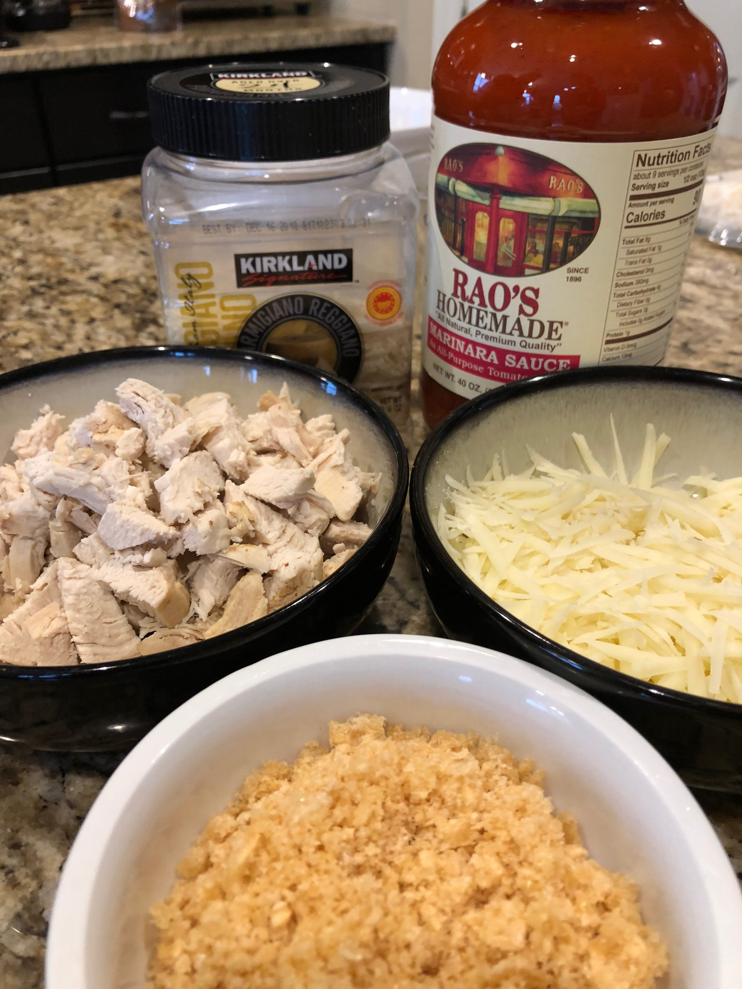 Keto Low carb chicken parmesan dinner recipe pork rinds