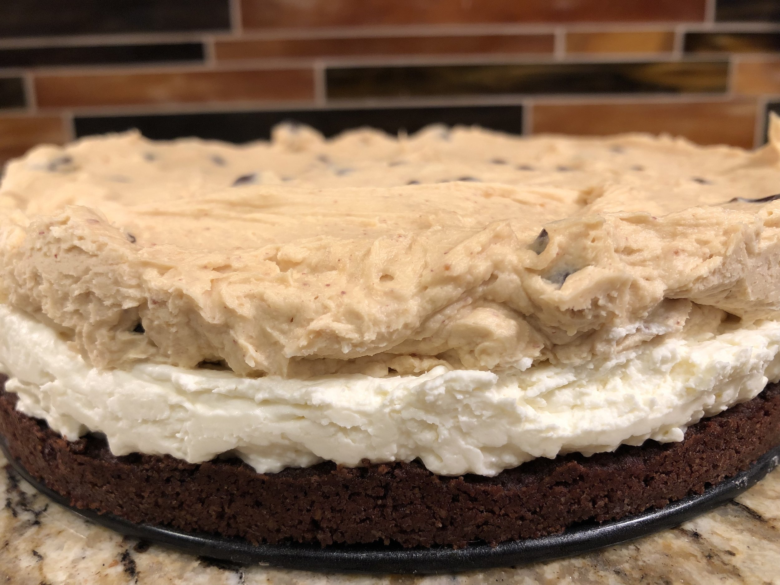 Keto low carb cookie dough cheesecake dessert recipe