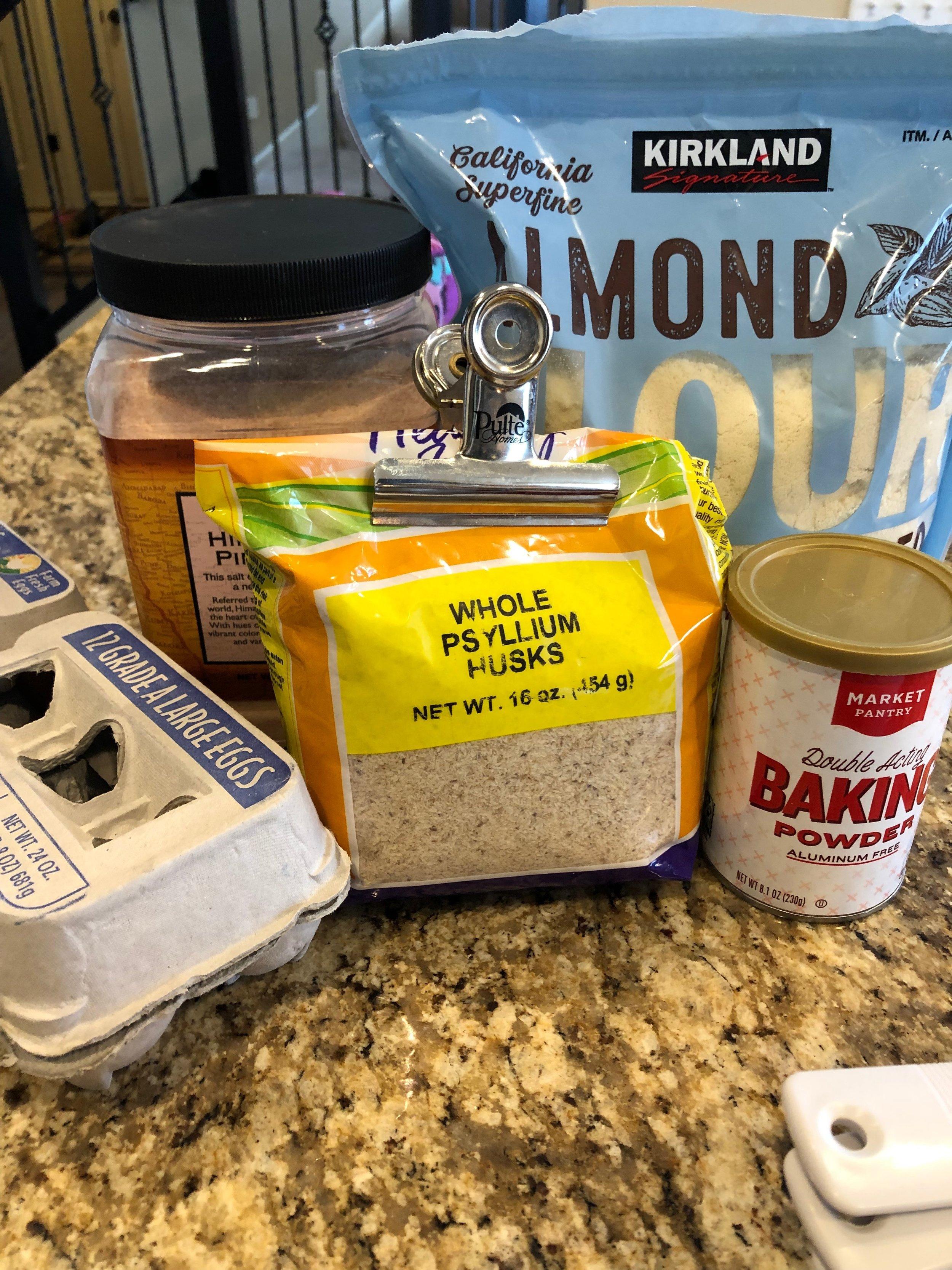 Keto bread roll ingredients