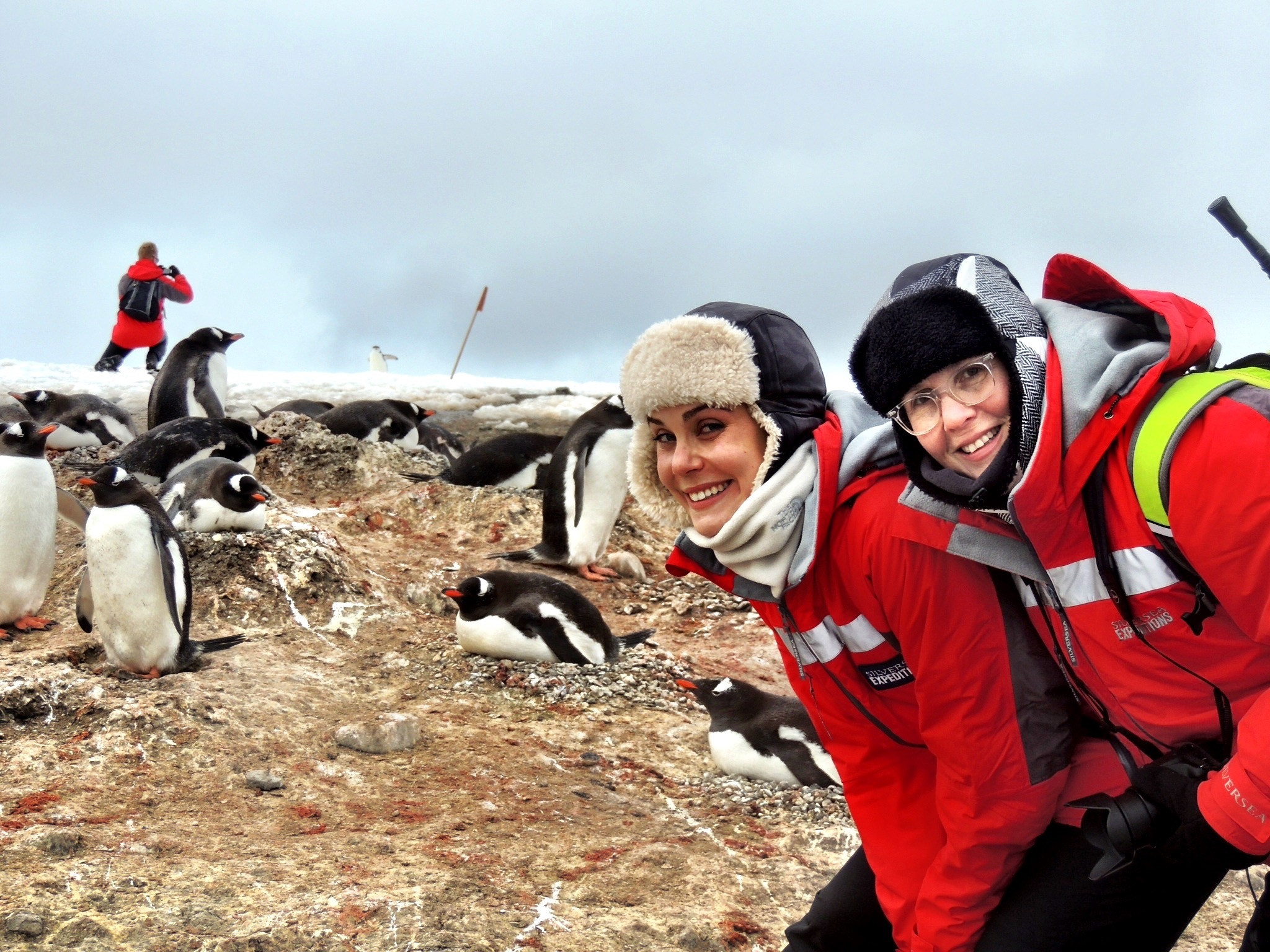 Emma and I sharing an excellent adventure in Antarctica
