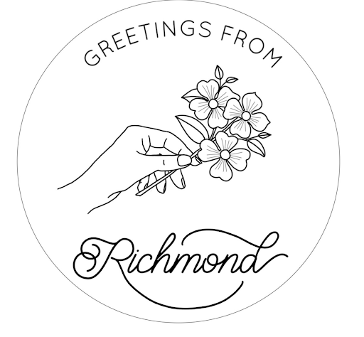 Image pattern of Greetings From Richmond.