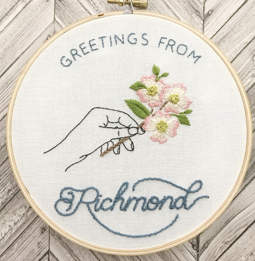 Picture image of final Greetings from Richmond wall hang.