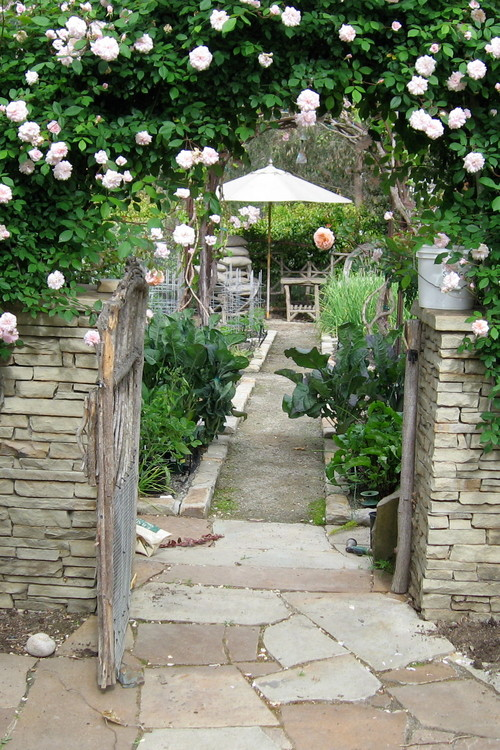This 1 acre property has edibles tucked in every corner. It is the perfect example of growing vegetables and herbs in raised beds and in the traditional landscape as well.