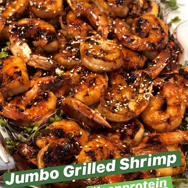 @tanyazuckerbrot grilled our fresh jumbo shrimp!  Looks delicious.  We can deliver some to you #thehamptons #nyc #newjersey #connecticut #westchester #greenwichct