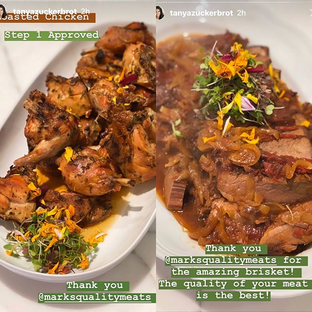 Thank You once again to @tanyazuckerbrot @f_factor who is a fan of all of our food!!! Roasted Chicken and Lean Brisket!! We deliver to #thehamptons #longisland #nyc #westchester #greenwichct #newjersey