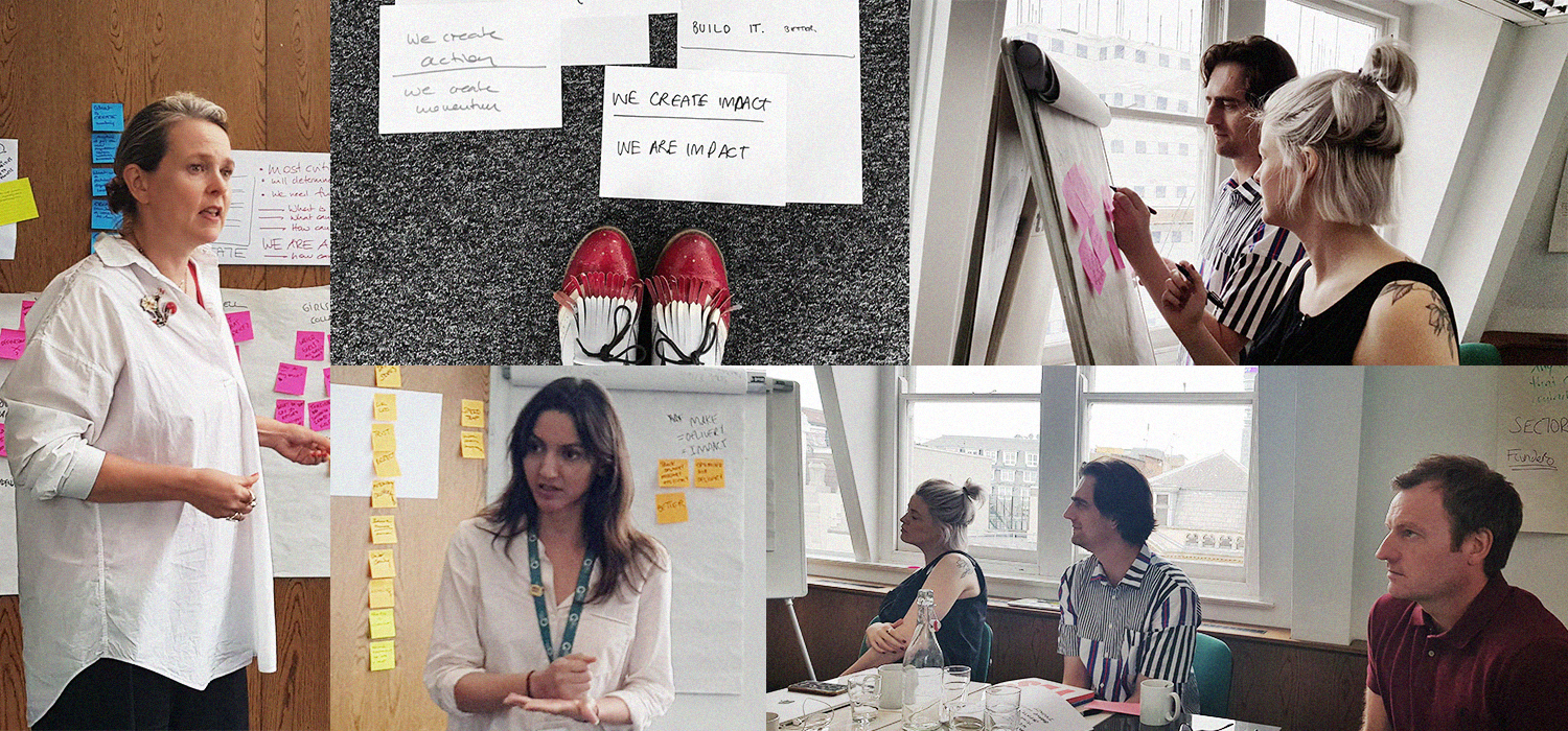The workshop participants included Alex Mecklenburg and Ivan Pols - Truth & Spectacle, Jonathan McKay - Senior Director CREATE, Karina Michel — Senior Product Designer, Siobhan Malone — Executive Producer, Jacob von Domarus – Director of Digital.
