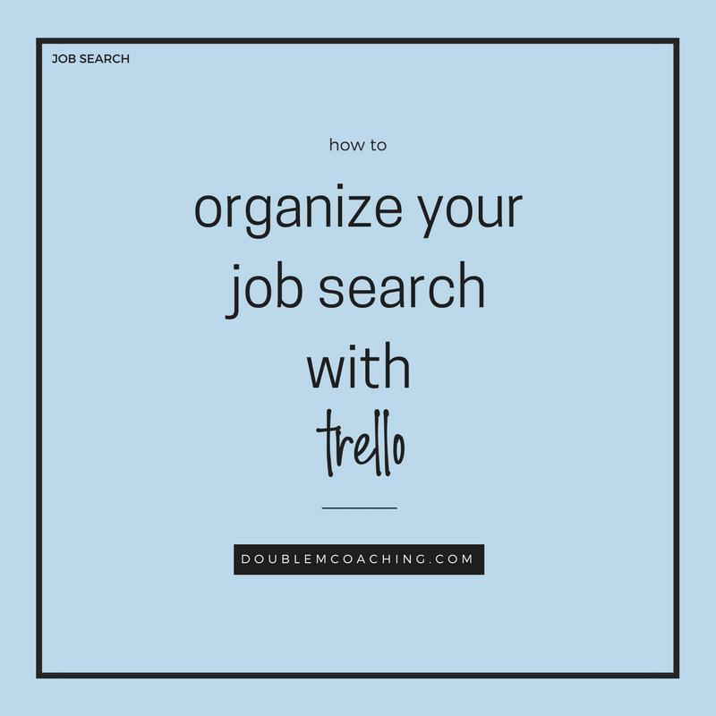 organize your job search with trello
