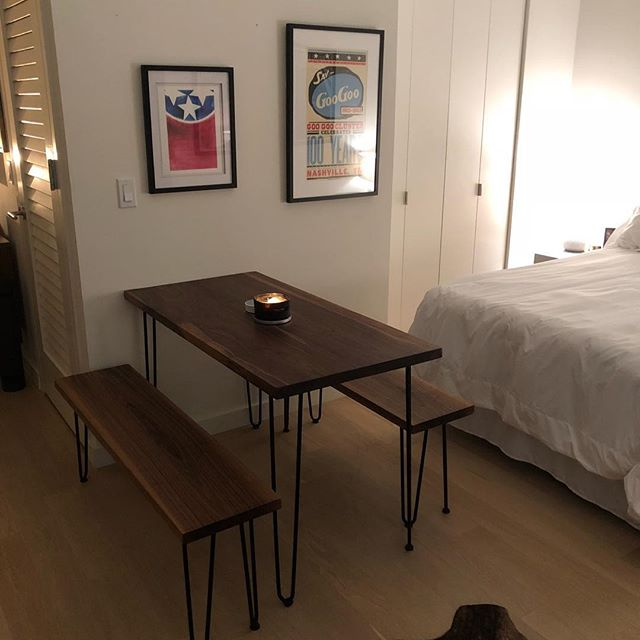 Here's a post from our friend and client @landinedward this summer. Landin lives in NYC, which presented a fun challenge - creating a table that could be flat-packed and shipped across the country. Always thrilled to meet new challenges and have happy customers! #Repost @landinedward with @get_repost ・・・ @thebillpeden has had to deal with me texting daily for weeks now. Annoying texts pay off. New @motherswoodshop table is here and it's dopppppppe.
