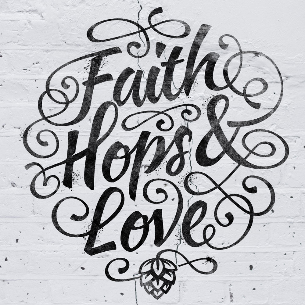 Faith Hops & Love - DesignBro