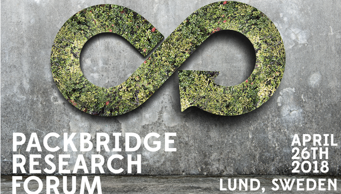 Packbridge invites to a one-day seminar:   How packaging can be diverted from landfills and by better collection systems and recycling   In a couple of weeks it's time for the 2018 edition of Packbridge Research Forum. This year we've invited experts from the US, Australia, Germany, Norway and of course from Sweden. The focus will be the latest development and research within  Circular economy .We are addressing the topic from three areas, Sustainable Materials, Recycling and Food Waste .   Read more and sign up >>