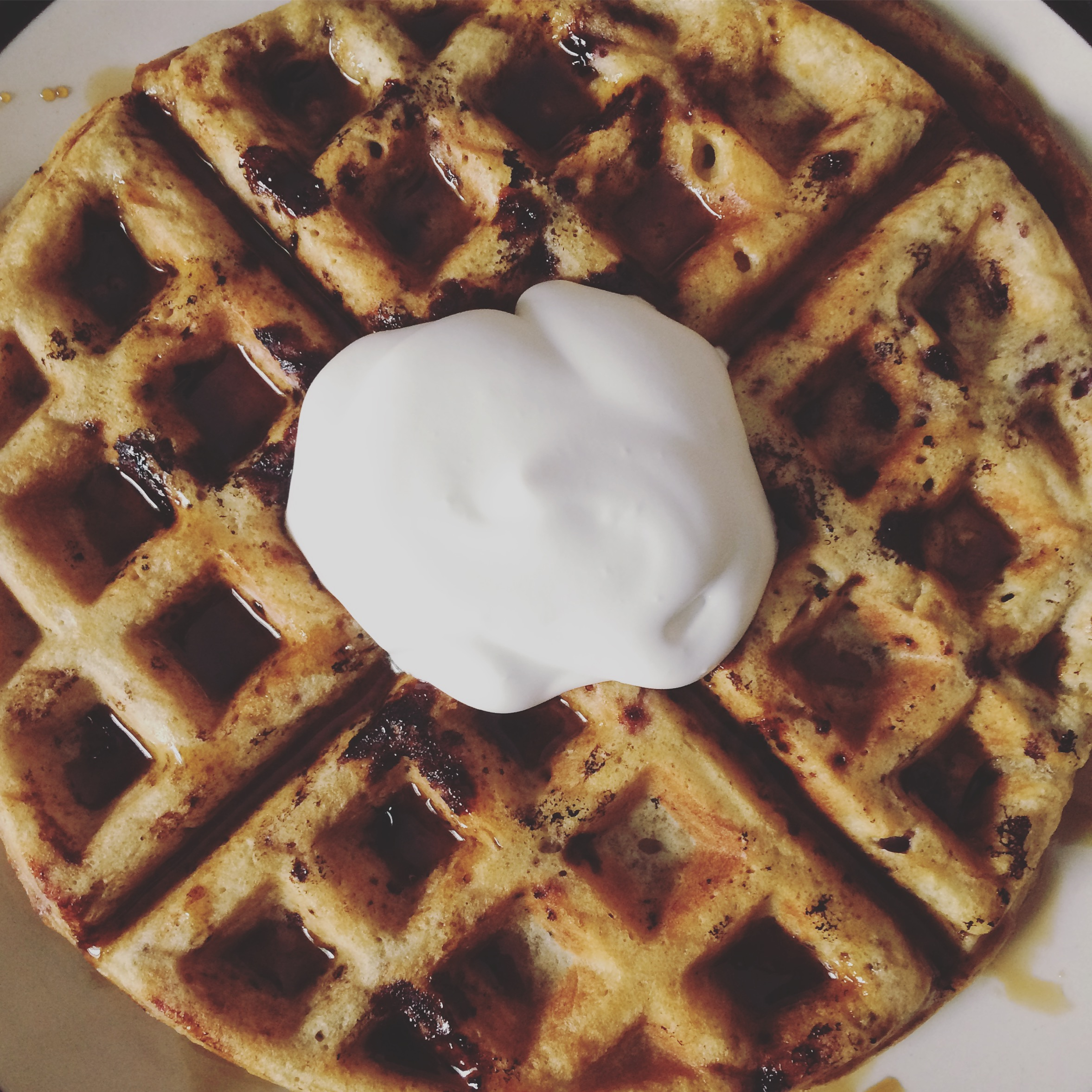 Juneberry waffle