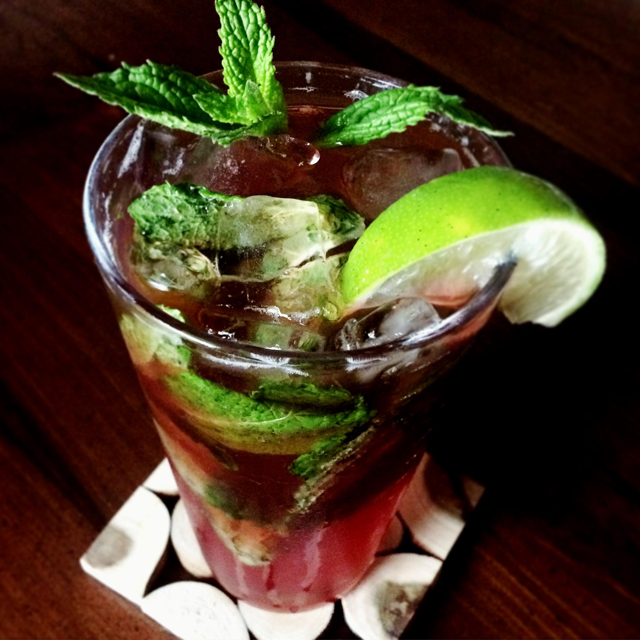 Raspberry Mint Shrub Drink
