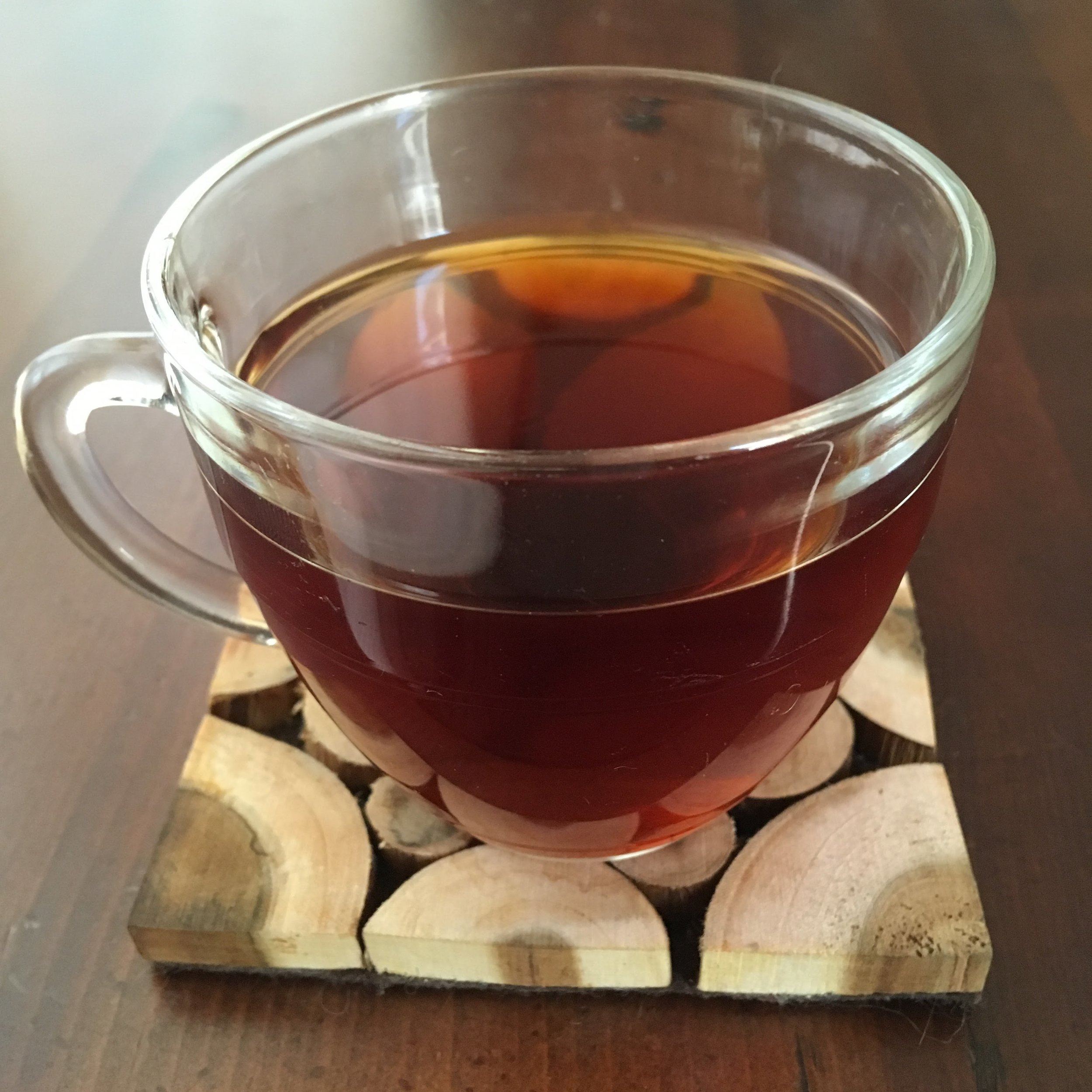 Hot cup of dandelion root coffee