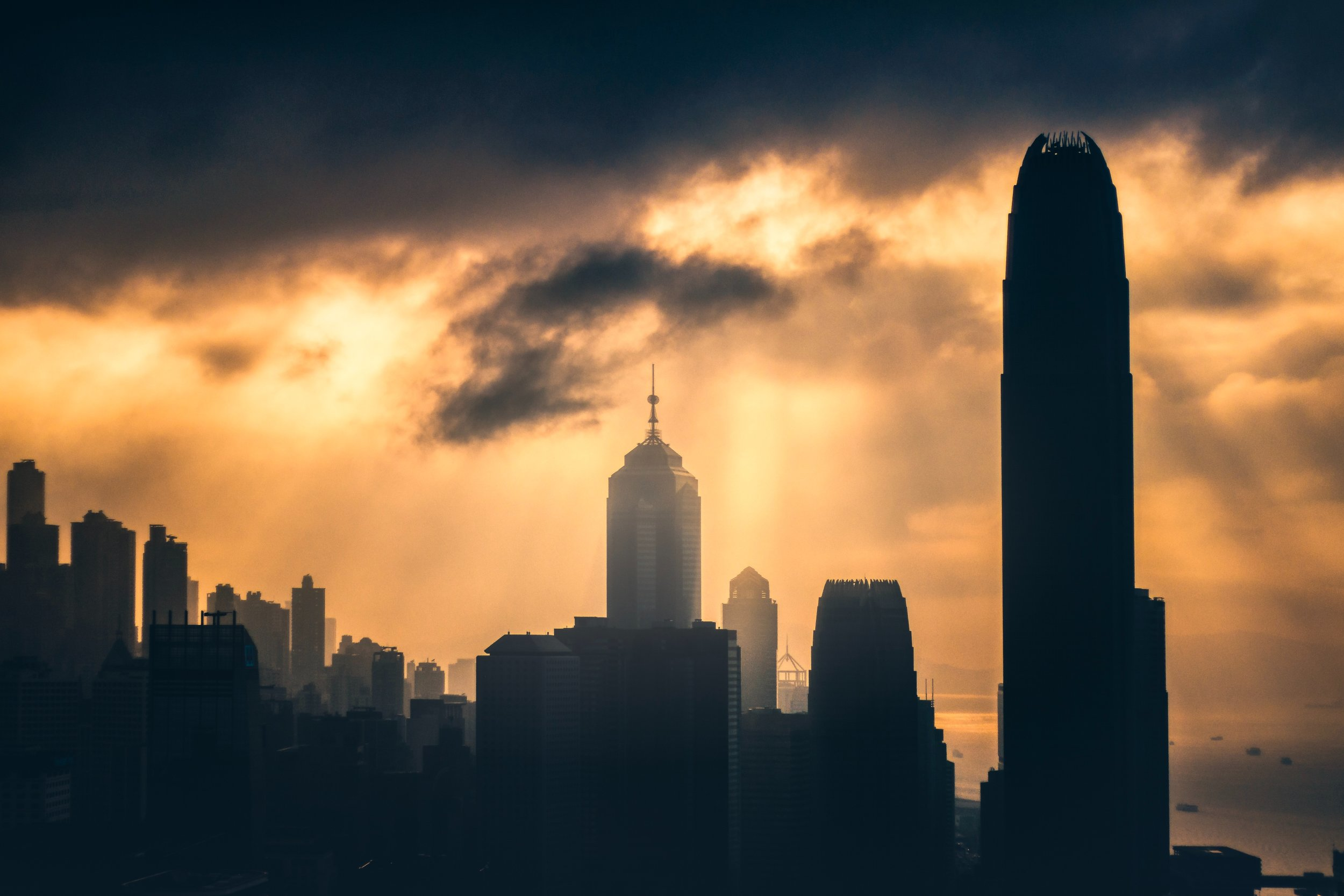 A spooky cityscape.