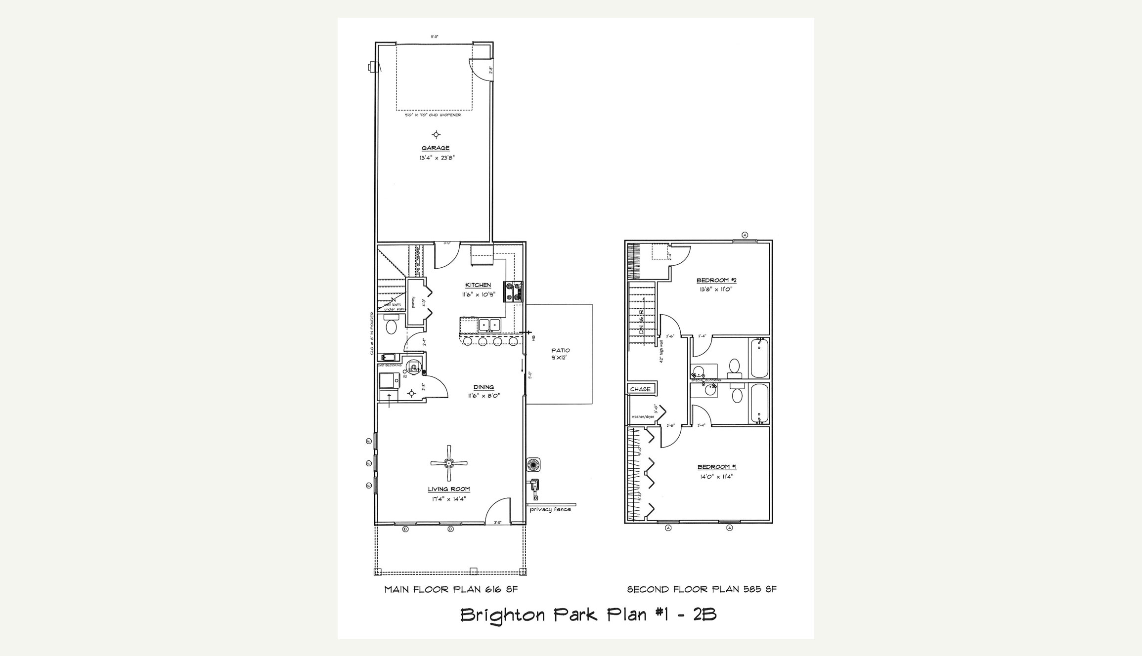 Plan 1 — 2 Bed