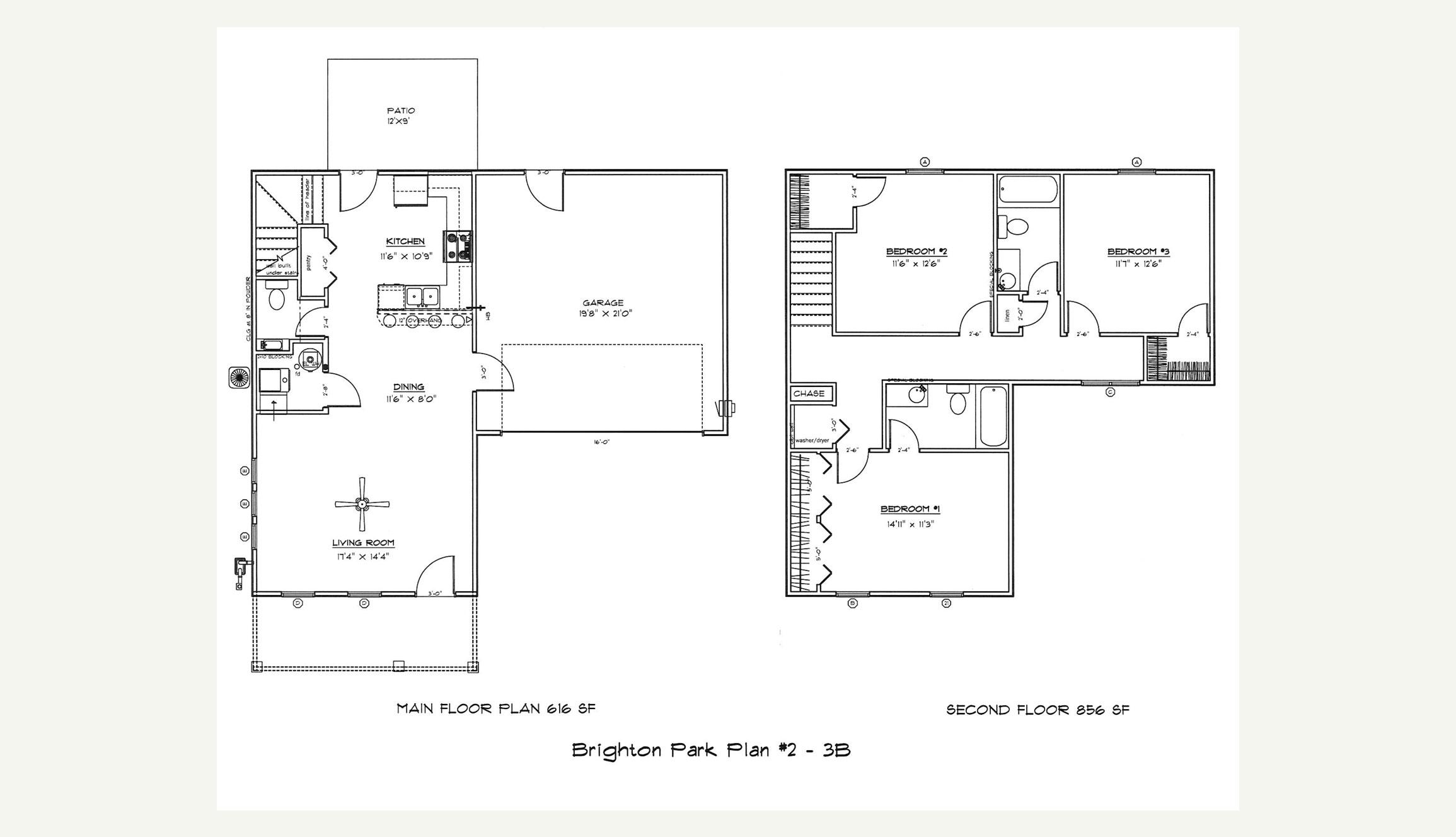 Plan 2 — 3 Bed