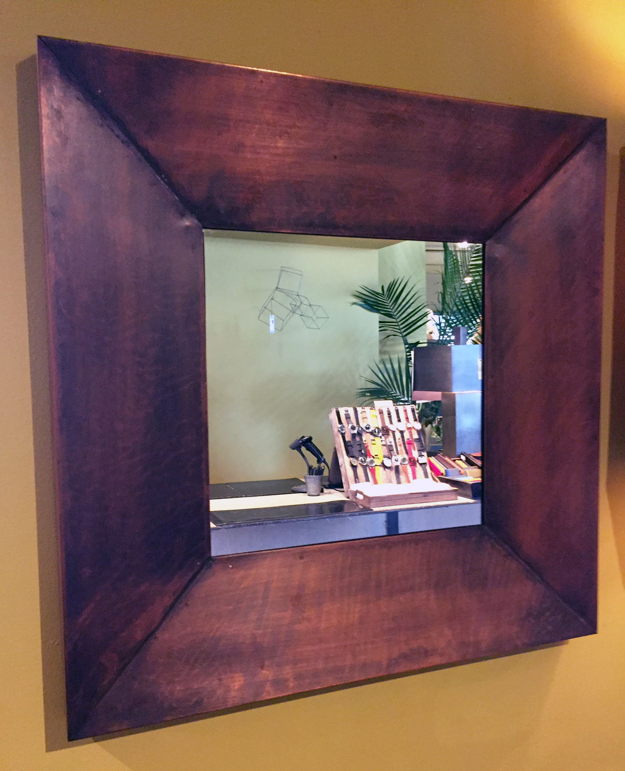 Copperplated Wash Mirror  Originally $300  As is $225