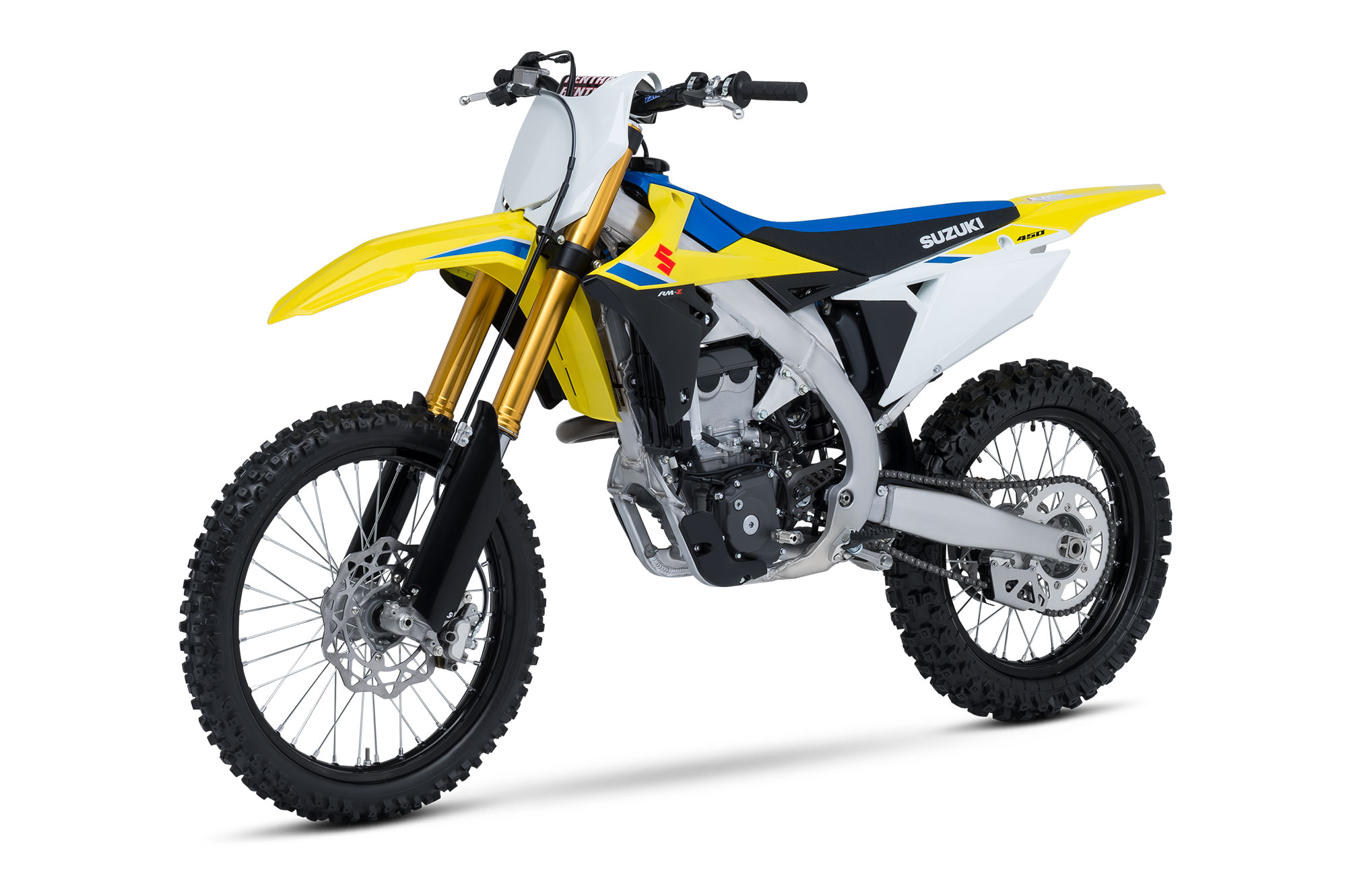 Suzuki's new bodywork is sleeker, narrower and keeps it's yellow and blue heritage for 2018.