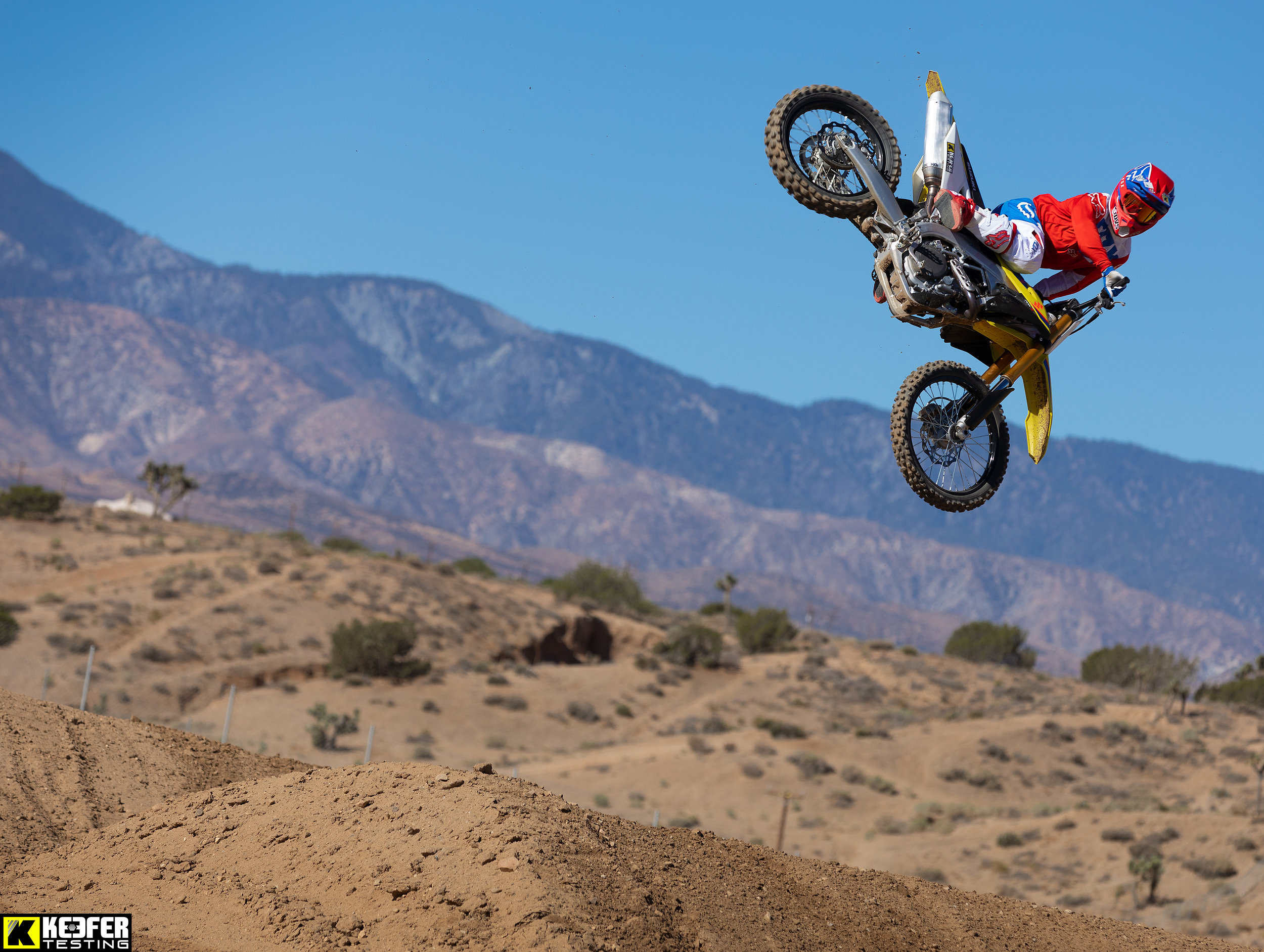 """The Suzuki RM-Z450 is the best looking bike out of the bunch. However, looks alone couldn't get the Suzuki up the charts in 2019, but the zook has improved slightly since last year. The BFRC shock still unloads (kicks) off throttle, which causes the rider to have a lot of pitching coming into corners. Most riders didn't mind the engine's delivery, but just wanted more from the powerplant (especially on deep tilled tracks). The white coupler was almost unanimously used by all riders which helps """"wake up"""" the bottom to mid range, but the Suzuki still signs off too quickly up top. The cornering of the RM-Z450 is still great, but other machines are as good, if not better than the Suzuki for 2019. This bike would be great for a rider who wants to spend less money and still have a good bike to go race/ride on the weekends. Small modifications can really help the Suzuki become a better machine. In fact, we will be doing a project 2019 RM-Z450 this year, so stay tuned!"""