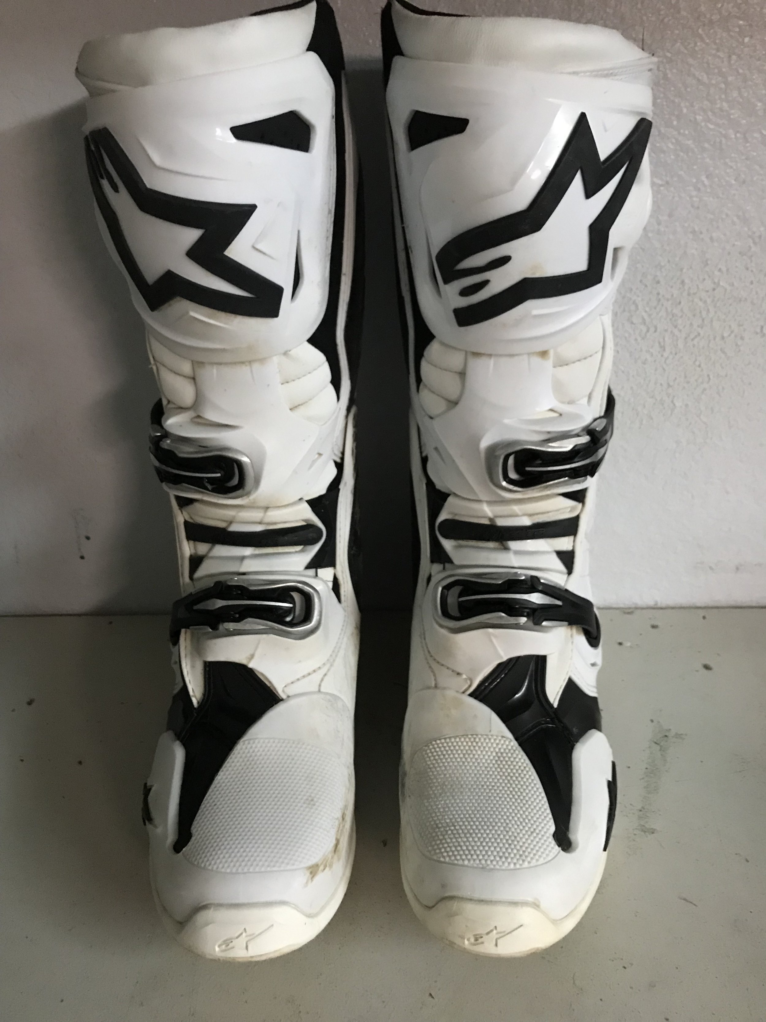 "Even though Alpinestars hasn't came out and told me exactly what the revisions were on the new Tech 10's, I can tell you that the front three bars of the ankle area have been ""revised"" to soften the feel."
