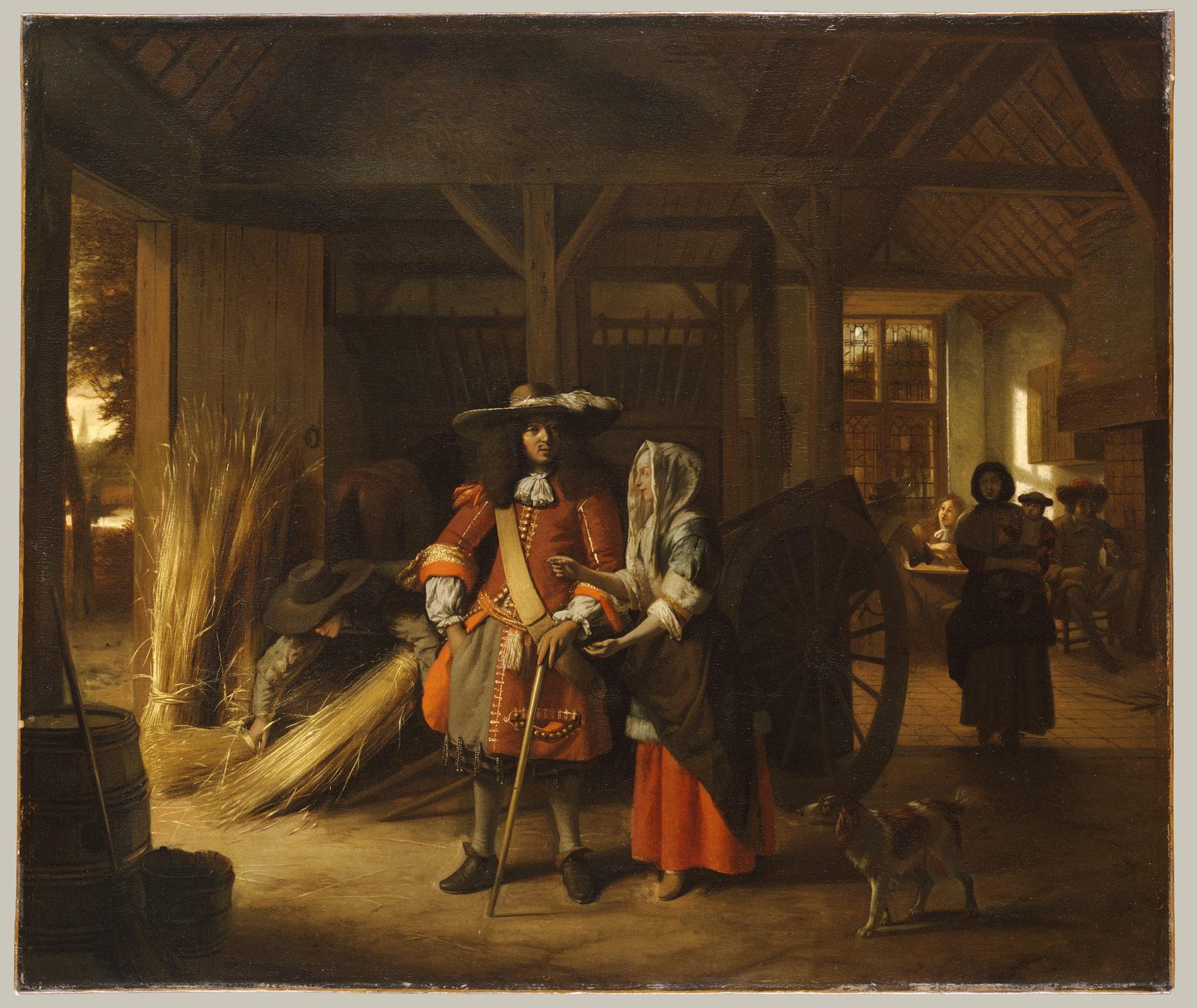 Paying the Hostess - Pieter de Hooch 1670.jpg