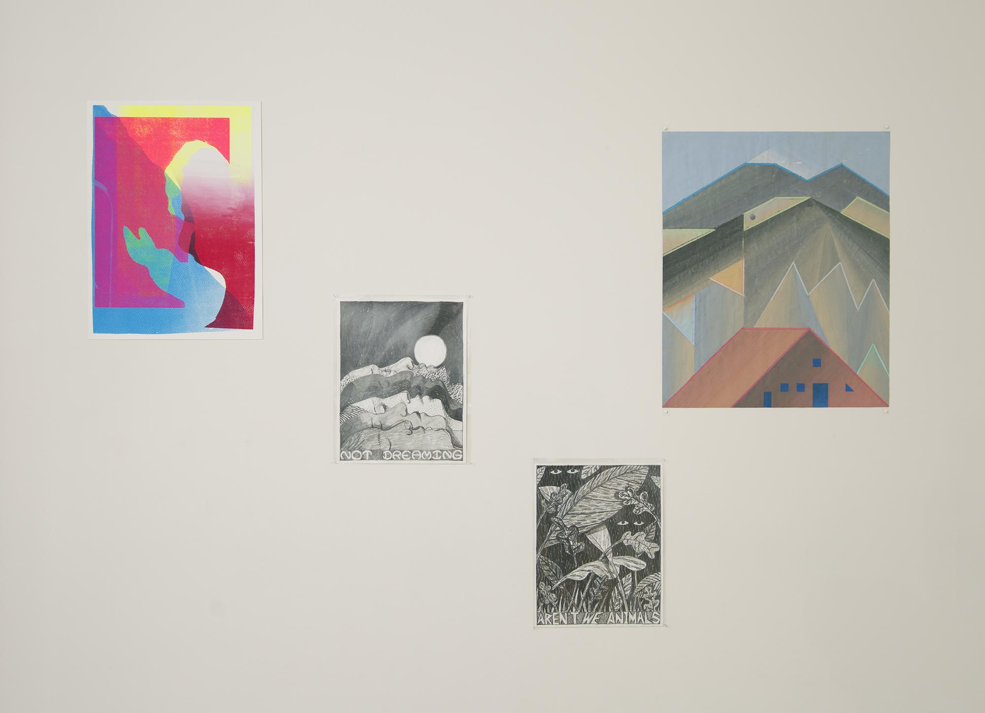 Clara Bausch / Benjamin Degen (2 drawings) / John Hodany