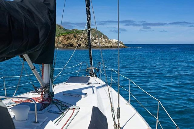 On the hook. ... ... #sailingaria #sailboatlife #liveaboardlife #catalinaisland #emeraldbay #twoharborscatalina #onthehook #favoriteanchorages #atanchor