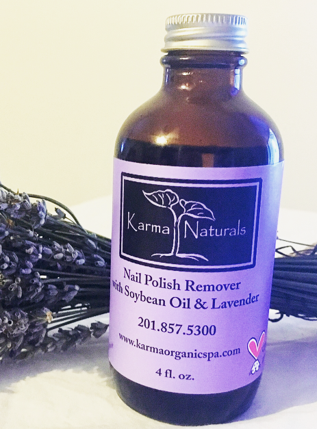 Karma Naturals Nail Polish Remover w/ Lavender - In searching for a non-toxic nail polish remover, I found Karma Naturals & love this product. I can finally touch my face after using without the tears & repulsion to the smell from typical nail polish removers. This is an organic, vegan & cruelty -ree product.