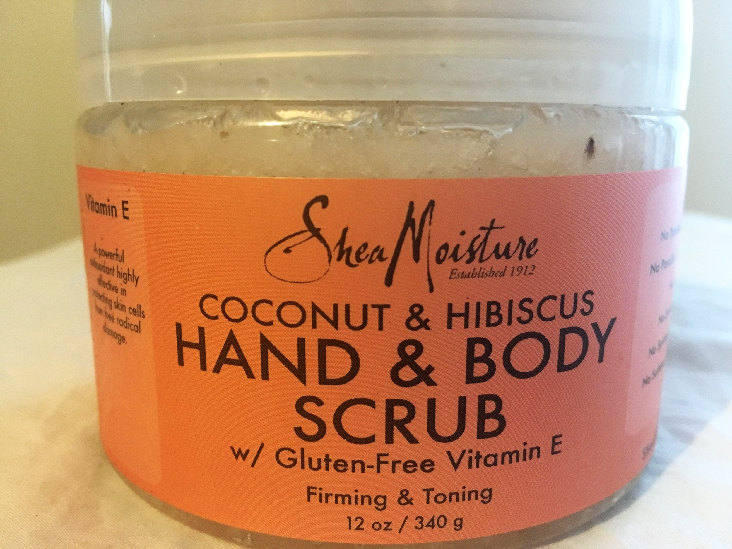 SheaMoisture Coconut & Hibiscus Hand & Body Scrub - Shea Moisture's affordable sugar scrubs (there are other versions) exfoliate, restore moisture, improve skins firmness, and can brighten dull skin. I love rotating these into my skin cleansing routine as they do NOT contain any parabens, phthalates, propylene glycol, mineral oil, sulfates & is cruelty free with organic ingredients.