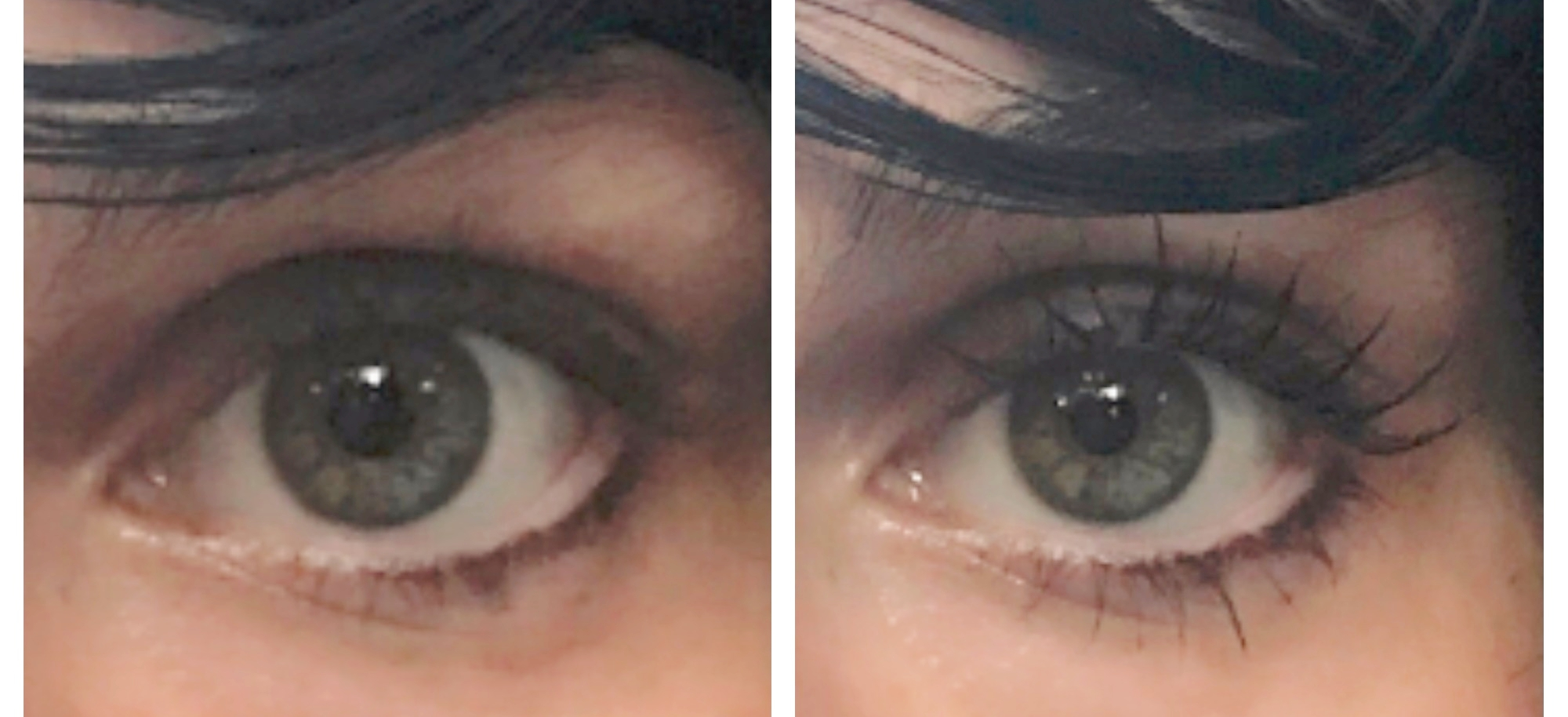 "Before & After ""Stellar Gaze"" on Left Eye"