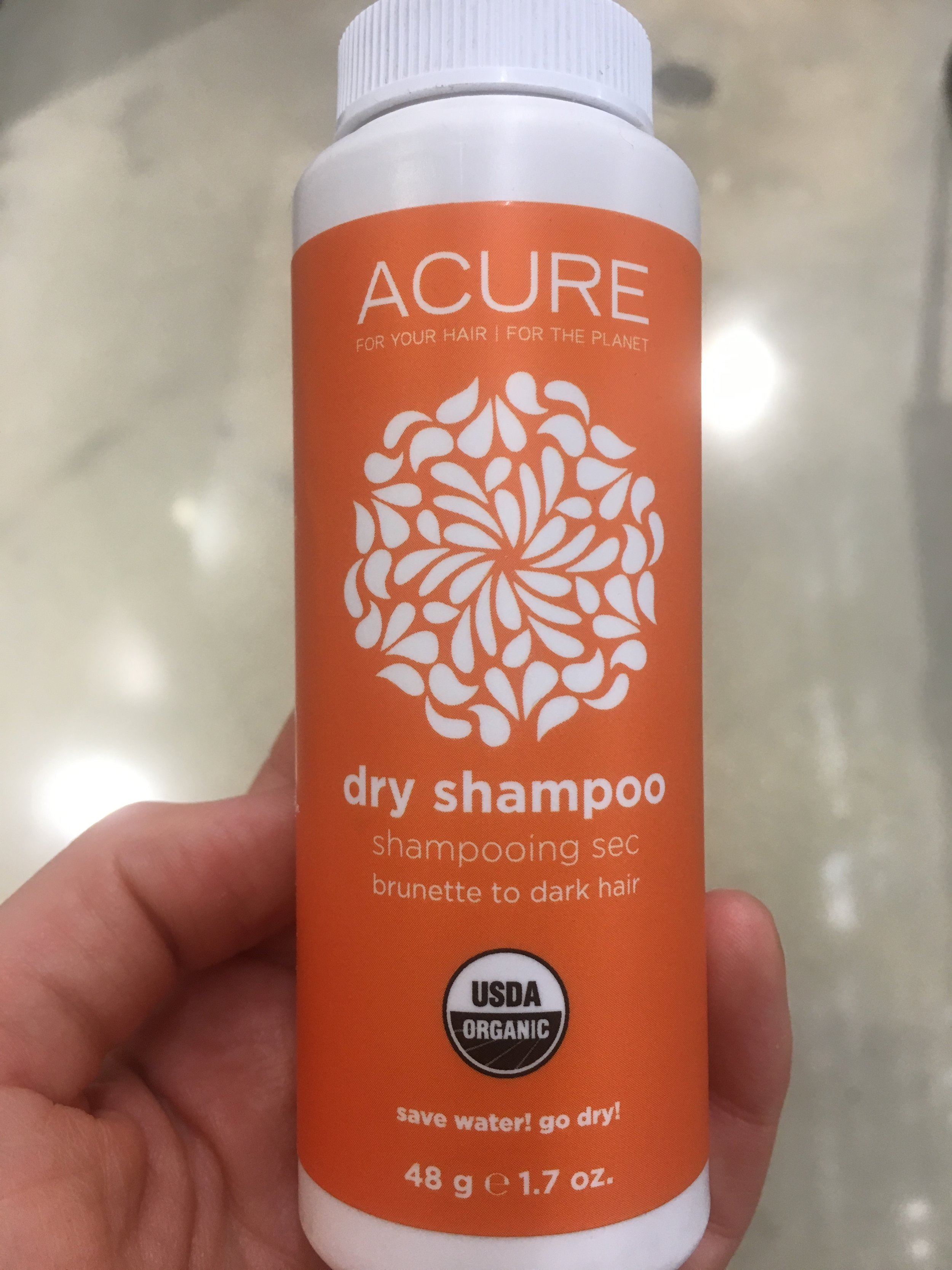 Acure Dry Shampoo - This organic dry shampoo is vegan, sulfate free, paraben free, cruelty free and color safe. It is nontoxic alternative to other dry shampoos, and works great!