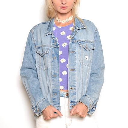 Vintage 90's Calvin Klein Jean Jacket Sz M ($99.99) -